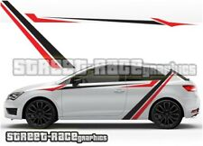 Seat Leon 023 side racing stripes graphics stickers decals vinyl Cupra Sport FR