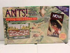 NOVA ANTS VIDEO LITTLE CREATURES WHO RUN WORLD & UNCLE MILTON ANT FARM SEALED
