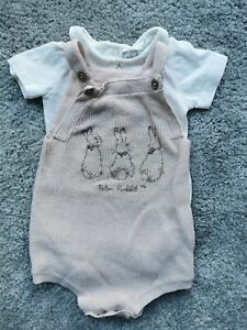 Baby Girls Peter Rabbit Bodysuit And Romper Size 3-6 Months