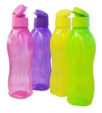 4 X Tupperware® Eco Easy verschiedene Farben  750  ml Trinkflasche NEU