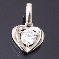 1 Ct Round Solitaire Diamond Pendant Jewelry SOLID 14k White Gold No Chain