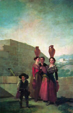 Oil painting francisco de goya - young women Carrying water tank with little boy