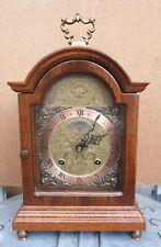 "Nice "" Warmink "" , nut wood table / bracket clock."