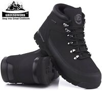 MENS LIGHTWEIGHT LEATHER WORK STEEL TOE CAP SAFETY BOOTS PPE SHOES TRAINERS SIZE