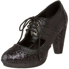 Pleaser Bordello Women's Grind-03 Oxford Black Glitter Size 10