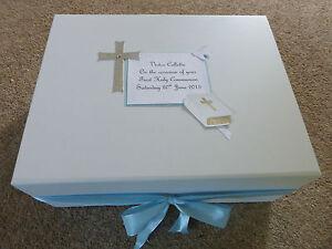 First Holy Communion Memory Keepsake Box Personalised Extra Large 40x30x15cm**