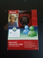 Microsoft LifeCam VX-1000 VGA Webcam - Built  In Microphone With Instructions