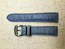 20MM LEATHER WATCH STRAP BAND FOR ZENO WATCH BLUE