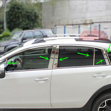 Stainless Steel Window Pillar Posts Trim For Subaru XV Crosstrek 2013 14 15 2016