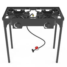 Outdoor&Indoor Portable Propane Stove, Single&Double Burners with Gas Hose