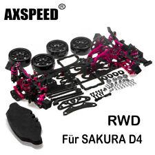 Alloy Carbon Car Chassis Frame für SAKURA D4 RWD Sport RC 1/10 Drift Racing