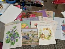 Greetings Cards 18 + 3 Envelopes VINTAGE All Kinds All Makes