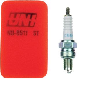 Polaris UNI Air Filter Spark Plug Tune Up Sportsman Outlaw 90 110 ATV CR6HSA