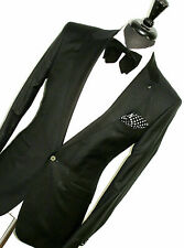 BNWT MENS TED BAKER LONDON EVENING STAGE GLITTERY TUXEDO DINNER SUIT 38R W32