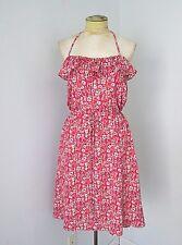 VGC Liberty of London Target Silky Pink Mod Floral Sundress Dress Tie Halter S