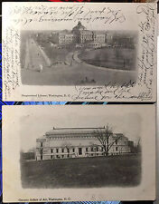 Lot of 2 WASHINGTON DC, PRIVATE MAILING CARD Post Card 1907 SUNDAY STAR Issued