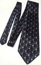 Christian Dior monsieur blue black and yellow tie men's