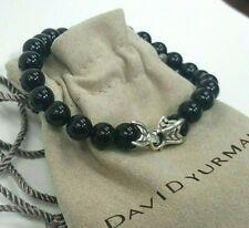 "David Yurman Spiritual Bead Men's Bracelet with Black Onyx 8.5"" 8mm"