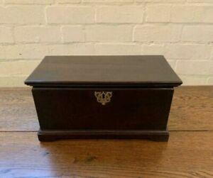 Antique Georgian Oak Miniature Apprentice Piece Blanket Box