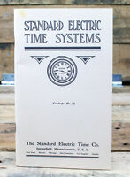 Standard Electric Time Systems :1914 Catalog 33 Reprint - 1994