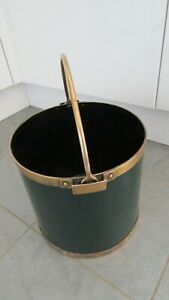 Vintage 1962 Brass and Metal Coal Scuttle