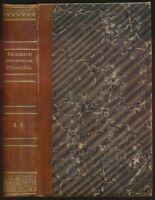 Ludwig Feuerbach: Geschichte der neuern Philosophie (1833/1837). Erstausgabe.