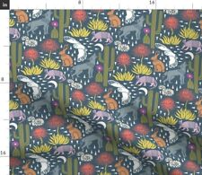 Coyote Desert Animals Owl Armadillo Rattlesnake Spoonflower Fabric by the Yard