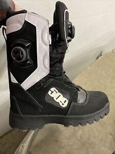 509 Men's Raid Dual Boa Boots Waterproof Thinsulate - Black & White Snowmobile
