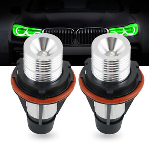 2x Angel Eyes Halo Ring 10W 1600LM Green LED Light Bulbs for BMW X Series E83 E5