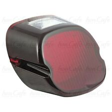 Fanale Harley laydown led, lente rosso scuro