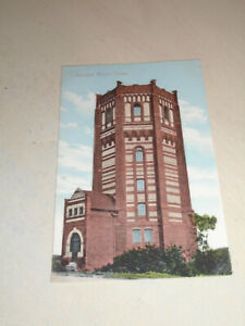 EARLY 1900s POSTCARD - FINEDON WATER TOWER, FINEDON, NORTHAMPTONSHIRE