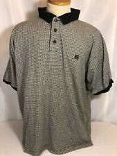 Givenchy Active Wear Mens Geometric Print Collared Polo Shirt Xl