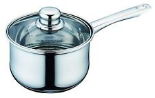 Buckingham Deep Induction Stainless Steel Saucepan W/ Glass Lid 18cm / 2.8L