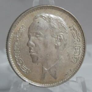 Morocco 1965 AH 1384 5 Dirhams .720 fine Silver Coin C1827
