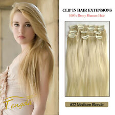 Blonde 22# 100% Human Hair Clip in on Extension 7pcs 70g Best Selling 15inch