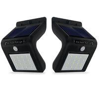 2x Solarleuchte 16 LED Außen Solarlampe Bewegungsmelder Sicherheits Wandleuchte