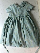 Plum Pudding Baby Blue  Floral Little Girl Dress Size 4T