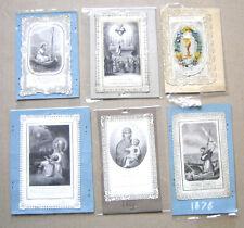 lot de 6 canivets - images pieuses chrétiennes anciennes avec dentelles XIXème