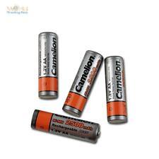 4 Batterie + BOX Mignon AA NI-MH Camelion 2500mAh 1,2V Ricaricabile