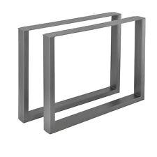 en.casa® 2x Tischgestell Tischuntergestell Tischkufen Tischbein 90x72cm Stahl