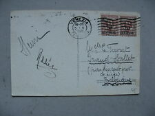 ITALY, PPC ( card Venice bridge of sighs) to Belgium 1925, 2x revalued stamp