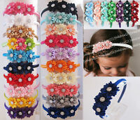 New Girls Triple Satin Flowers Alice Hairband Headband Hair Accessories