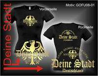 Damen T-Shirt Girlie Shirt mit Wunschtext Stadt oder Namen Wunschdruck GOFU08-01