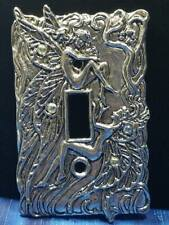 Opal Fairy Pewter Light Switch Plate Single Switch Fellowship Foundry US Made