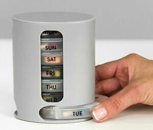 Weekly Pill 7 Day Organiser Large Stacking Tower 4 Daily Compartment Tablet Box