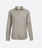 Fat Face - Women's - Rosie Gingham Shirt - Ivory - Size 6 - BNWT
