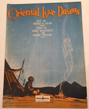 Oriental Love Dreams Sheet Music Art Shiekh Egyptian Arabic Imagination Girl