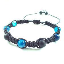 Men's shamballa beaded bracelet AGATE ONYX stone cuff wristband gift men jewelry