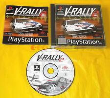V-RALLY 2 CHAMPIONSHIP EDITION Ps1 Versione Italiana 1ª Edizione ○○○ COMPLETO