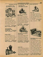 1961 ADVERT Cox Toy Model Race Car Gas Engine Tee Dee Airplane Babe Bee Mercedes
